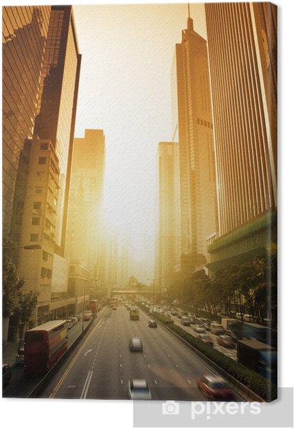 Obraz na płótnie Hong Kong Business District w czasie zachodu słońca - Miasta azjatyckie