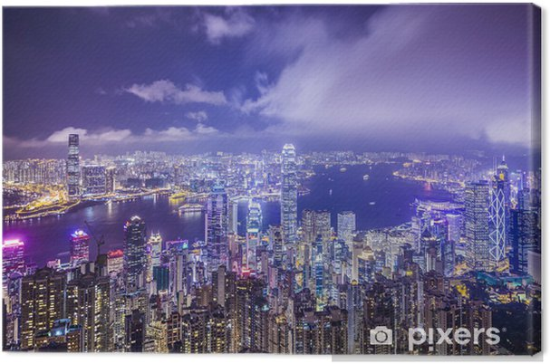 Obraz na płótnie Hong Kong, Chiny City Skyline - Tematy