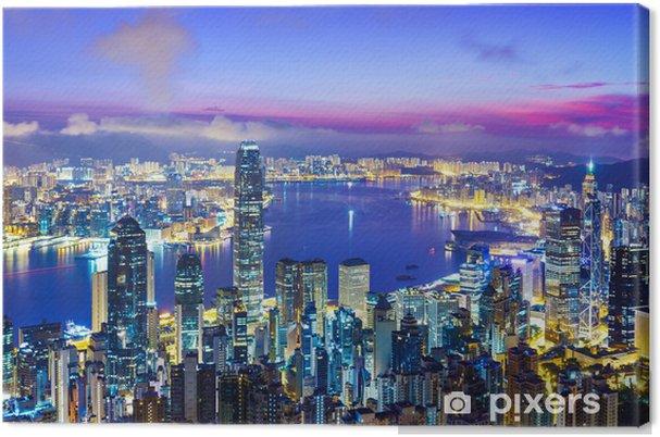 Obraz na płótnie Hong Kong miejska podczas sunrise - Azja