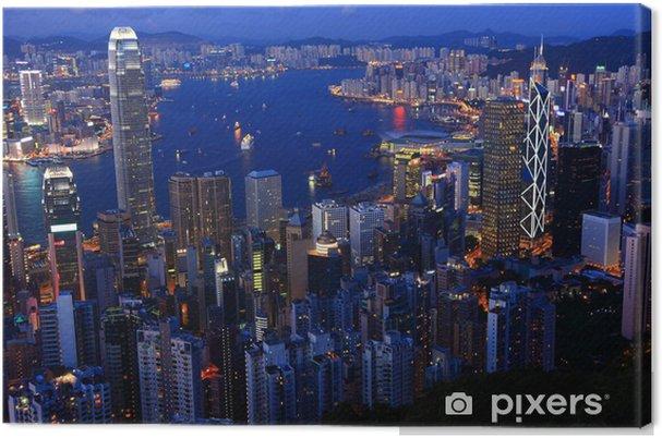 Obraz na płótnie Hong Kong na zmierzchu - Miasta azjatyckie