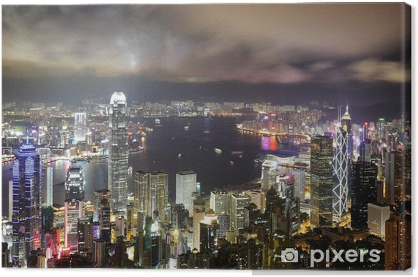 Obraz na płótnie Hong Kong night view - Azja