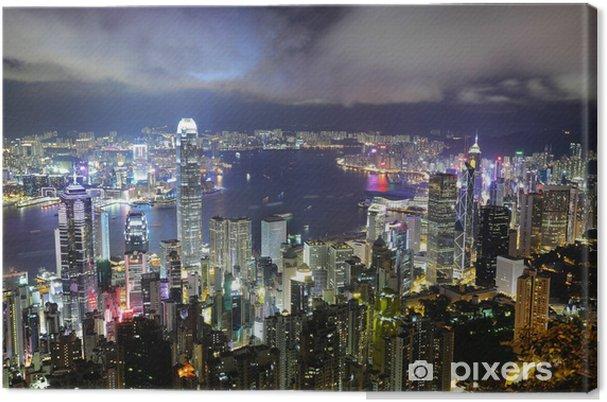 Obraz na płótnie Hong-kong noc - Kontynenty