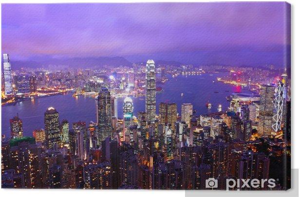 Obraz na płótnie Hong Kong Pejzaż w nocy. - Miasta azjatyckie