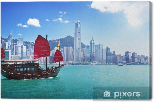 Obraz na płótnie Hong kong port - Statki, jachty i łodzie
