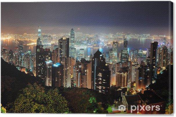Obraz na płótnie Hong Kong w nocy - Tematy