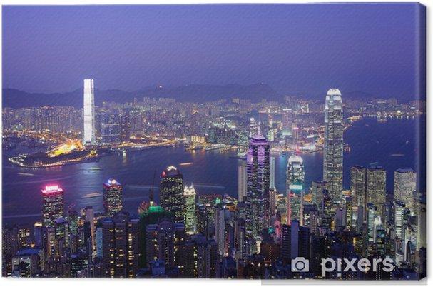 Obraz na płótnie Hong Kong w nocy - Miasta azjatyckie