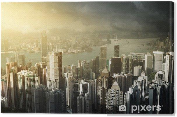 Obraz na płótnie Hong Kong wyspa od szczytu Victoria - Miasta azjatyckie