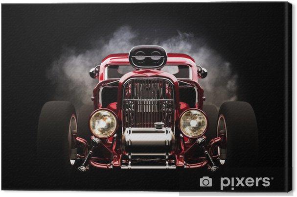 Obraz na płótnie Hotrod z dymu tle - Tła