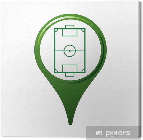 Obraz na płótnie Ikona, symbole, logo, piłka nożna - Sprzedaż