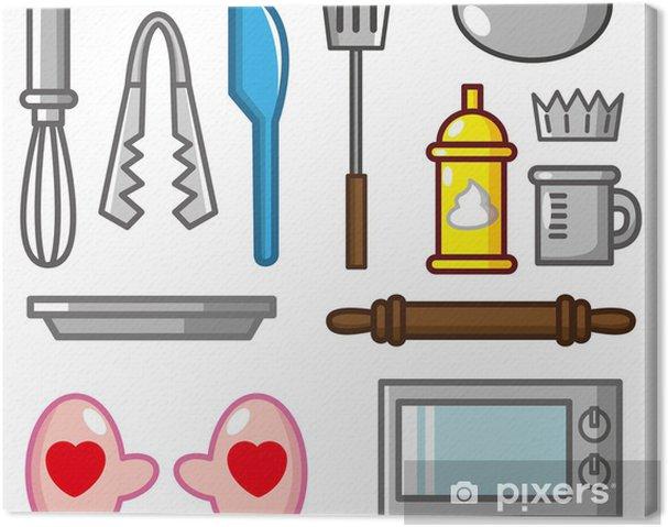 Obraz na płótnie Ikonę narzędzia kreskówki pieczenia - Gotowanie