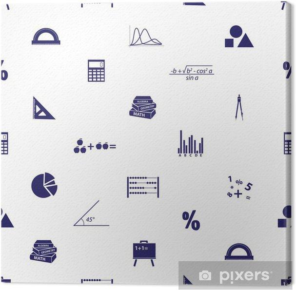 Obraz na płótnie Ikony bezproblemową wzór matematyki eps10 - Inne przedmioty