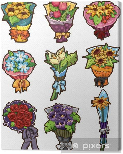 Obraz na płótnie Ikony bukiet kwiatów - Gry