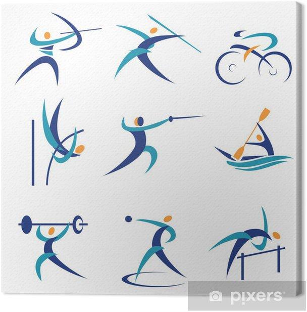 Obraz na płótnie Ikony igrzyska sportowe - Sporty indywidualne