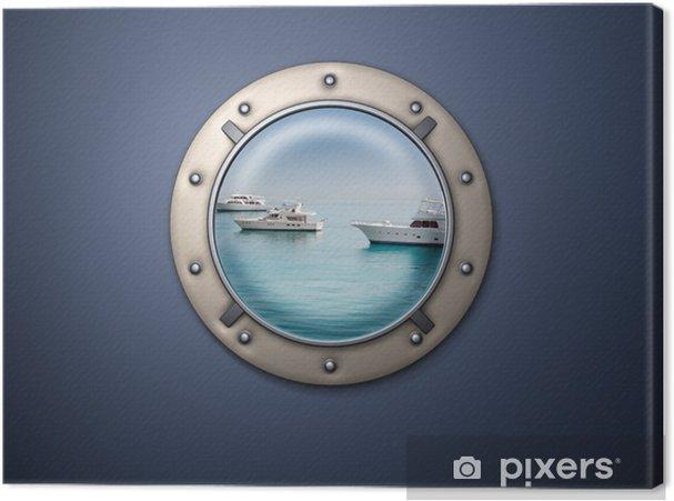 Obraz na płótnie Iluminator - Transport wodny