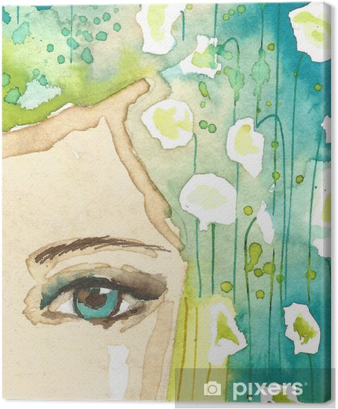 Obraz na płótnie Ilustracja abstrakcyjny portret kobiety - Style