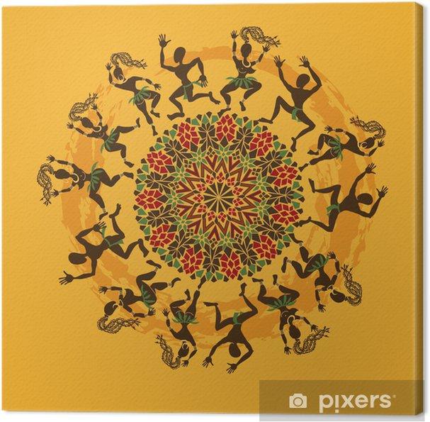 Obraz na płótnie Ilustracja afrykańskich tancerzy - Rozrywka