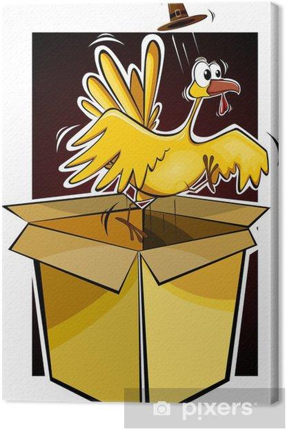 Obraz na płótnie Ilustracja cartoon drobiu z indyka - Ptaki
