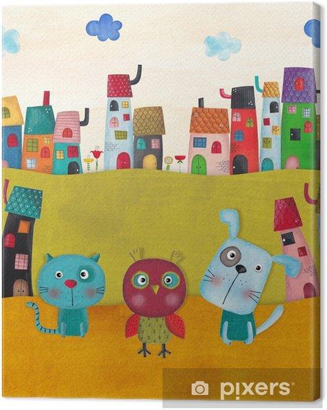 Obraz na płótnie Ilustracja dla dzieci - Krajobrazy