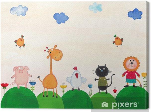 Obraz na płótnie Ilustracja dla dzieci - Zwierzęta