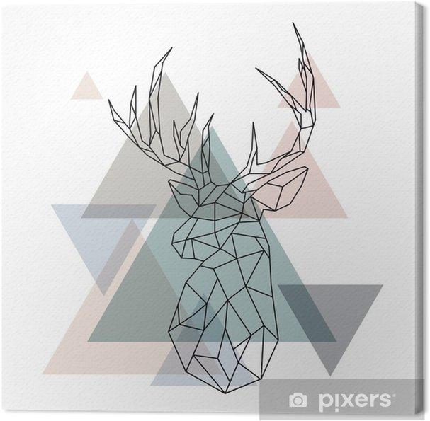 Obraz na płótnie Ilustracja geometryczny renifer - Zwierzęta
