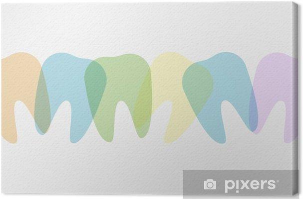 Obraz na płótnie Ilustracja kolorowe zęby - Nauka