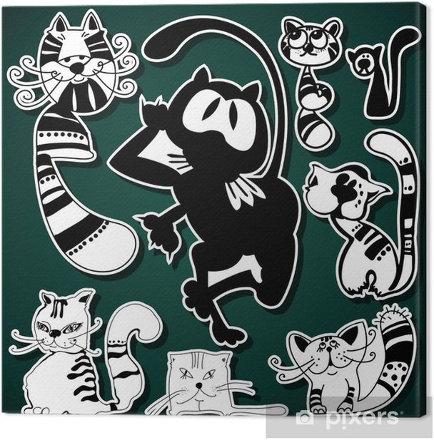 Obraz na płótnie Ilustracja kotów Funkey - Ssaki
