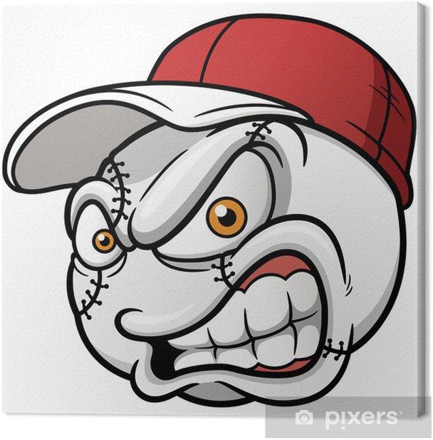 Obraz na płótnie Ilustracja kreskówek piłki baseball - Sporty drużynowe