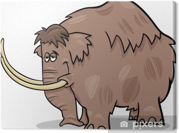 Obraz na płótnie Ilustracja kreskówka mamuta - Ssaki