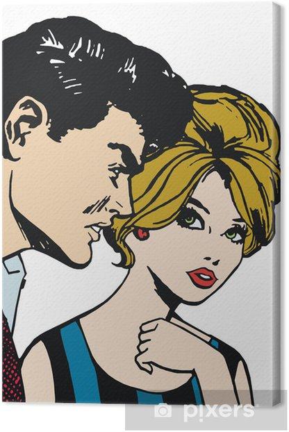 Obraz na płótnie Ilustracja młodej pary w miłości - Pary