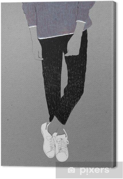 Obraz na płótnie Ilustracja mody - Ludzie