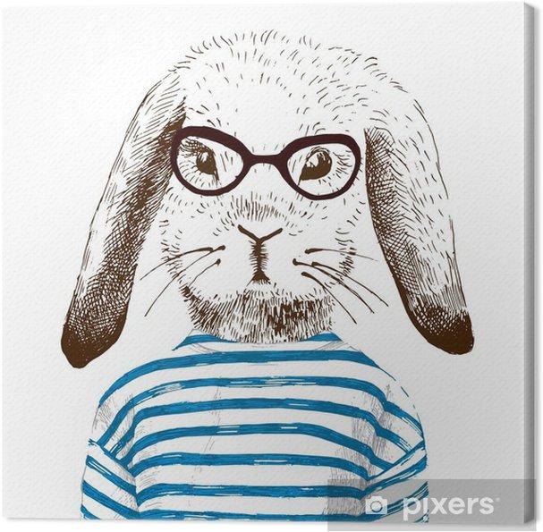 Obraz na płótnie Ilustracja przebrany królika - Zwierzęta