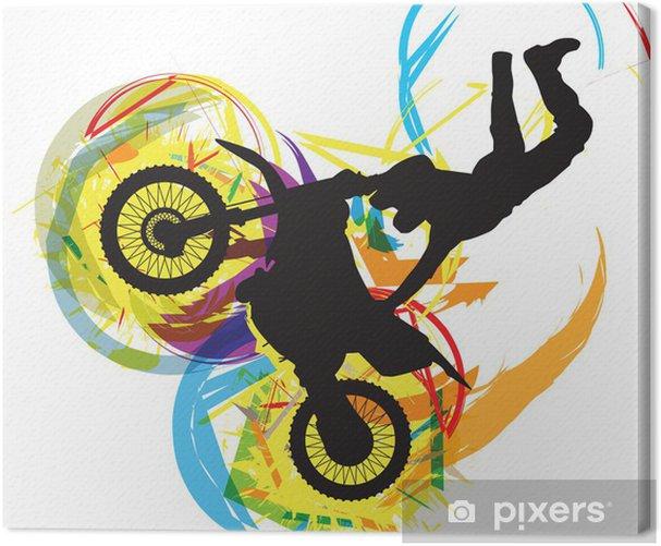 Obraz na płótnie Ilustracja rowerzysta - Transport drogowy