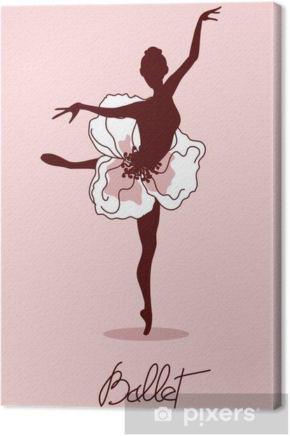 Obraz na płótnie Ilustracja tancerz - Balet