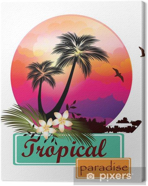 Obraz na płótnie Ilustracja tropikalnych paradise.vector - Wakacje