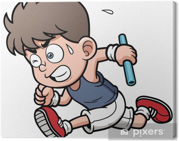 Obraz na płótnie Ilustracja wektorowa chłopca Runner - Sporty indywidualne