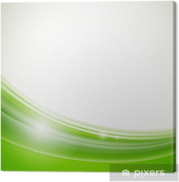 Obraz na płótnie Ilustracja wektorowa z naturalnym tle zielonej - Sprzedaż
