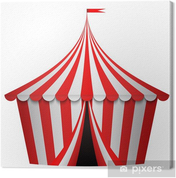 Obraz na płótnie Ilustracja z namiotu cyrkowego - Criteo