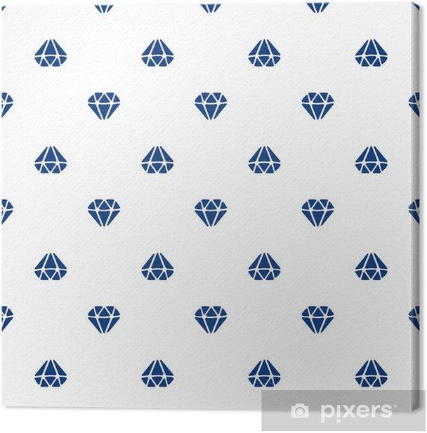 Obraz na płótnie Ilustracji wektorowych. wzór z sylwetkami diamentów skierowane w górę iw dół na białym tle - Zasoby graficzne
