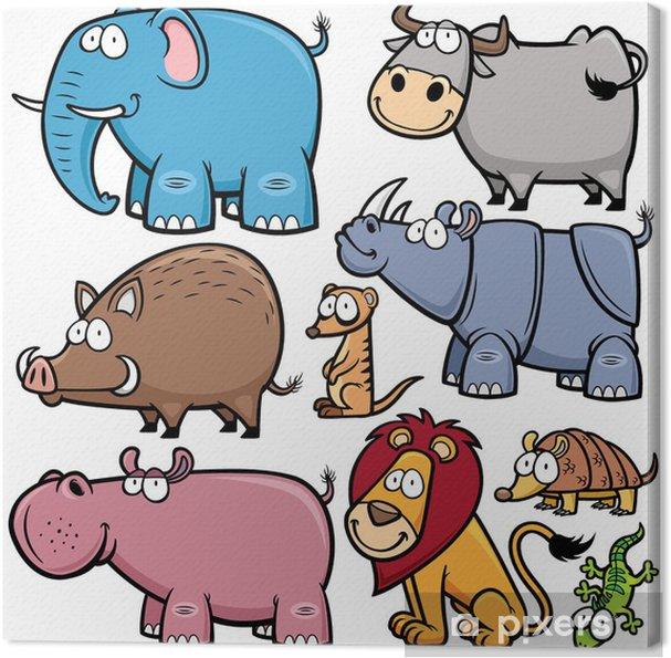 Obraz na płótnie Ilustracji wektorowych z dzikich zwierząt kreskówek - Ssaki