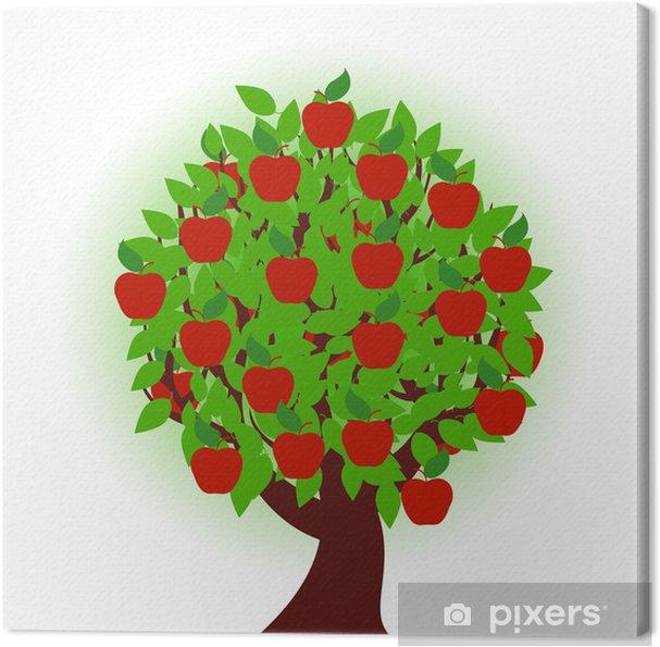 Obraz na płótnie Ilustracji wektorowych z jabłoni na białym tle - Pory roku