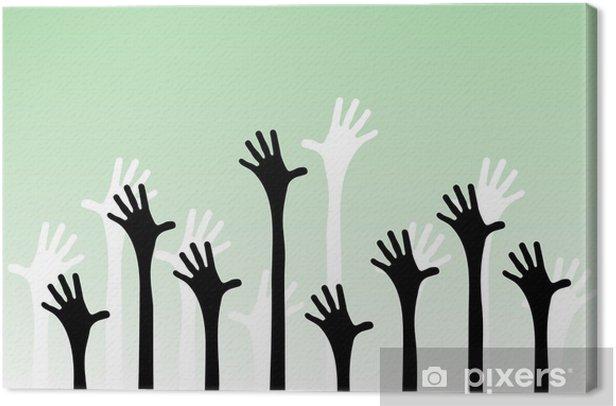 Obraz na płótnie Ilustracji wektorowych z rąk sięgających do powietrza. - Inne