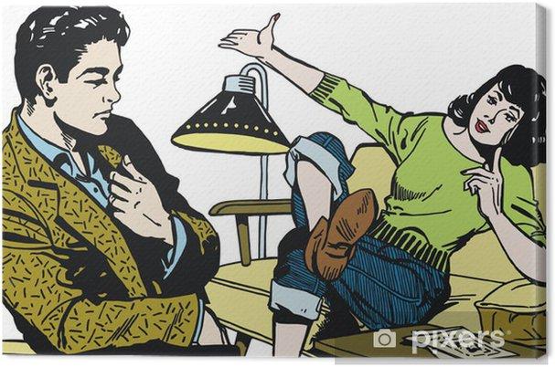 Obraz na płótnie Ilustracji z para w biurze - Tematy