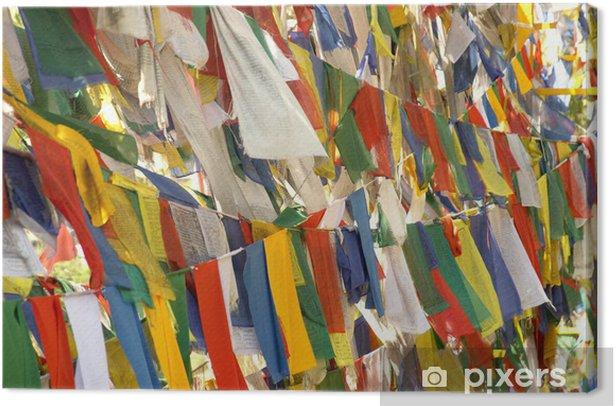 Obraz na płótnie Indie Rewalsar. Flagi z mantrami - Religie