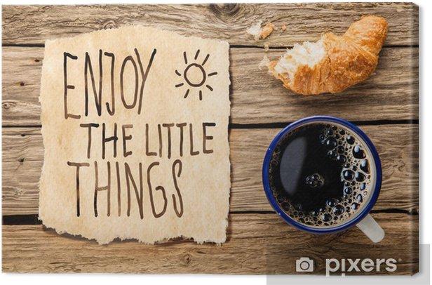 Obraz na płótnie Inspirujące wcześnie rano śniadanie - iStaging