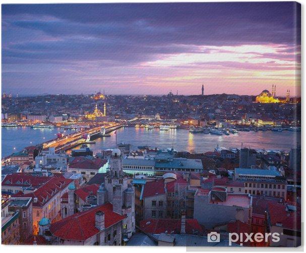 Obraz na płótnie Istanbul Sunset Panorama - Tematy