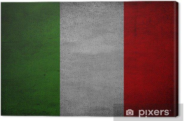 Obraz na płótnie Italian flag na vintage papier - Do pizzerii
