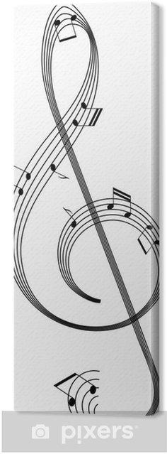 Obraz na płótnie Izolowane abstrakcyjne Klucz od pracowników z notatkami muzyki - Muzyka