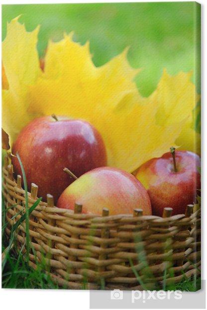 Obraz na płótnie Jabłka w koszyku - Owoce