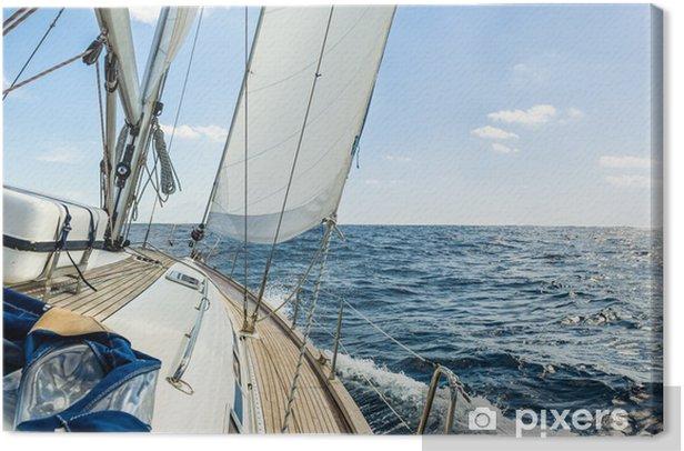 Obraz na płótnie Jacht pływają w Oceanie Atlantyckim w słoneczny dzień rejsu - iStaging