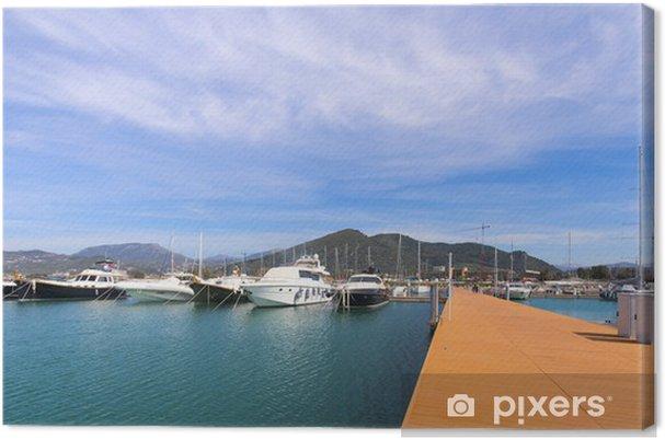 Obraz na płótnie Jachty i łodzie motorowe w Arechi Harbor Marina - Infrastruktura